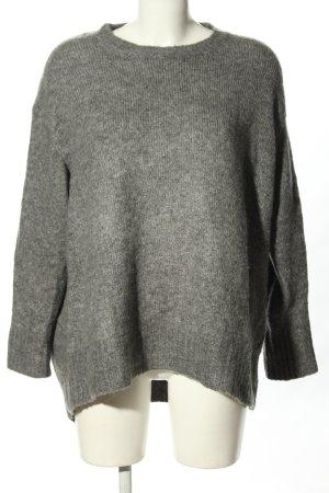 Zara Oversized Pullover hellgrau meliert Casual-Look