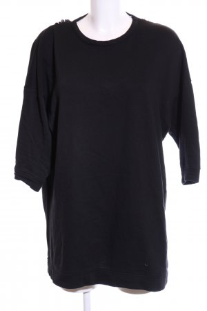 Zara Oversized Pullover schwarz Business-Look