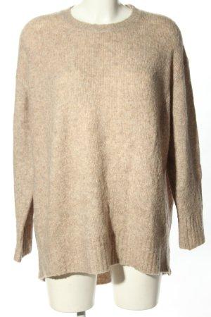 Zara Oversized Pullover creme meliert Casual-Look