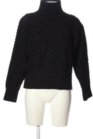 Zara Oversized Pullover schwarz Casual-Look