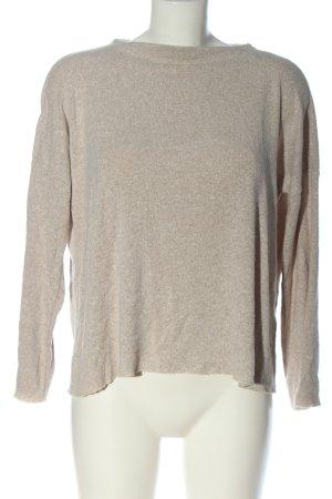 Zara Oversized Pullover wollweiß meliert Casual-Look