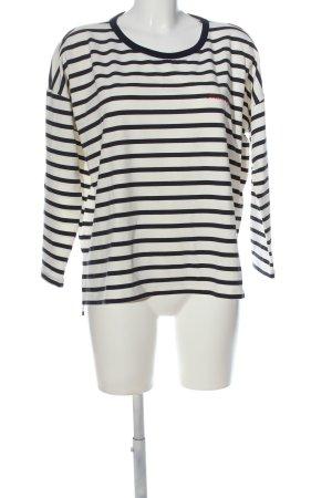 Zara Oversized Pullover weiß-schwarz Allover-Druck Casual-Look