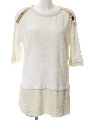 Zara Oversized Pullover creme extravaganter Stil