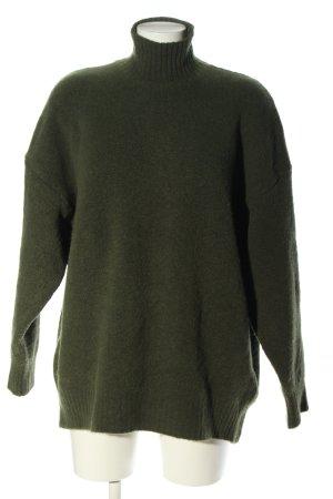 Zara Oversized Pullover khaki Casual-Look