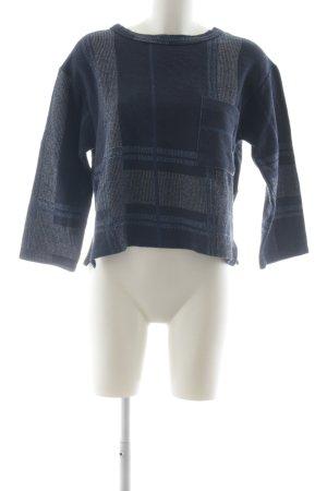 Zara Oversized Pullover dunkelblau-stahlblau Casual-Look