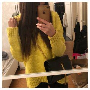 Zara Oversized Sweater yellow-lime yellow