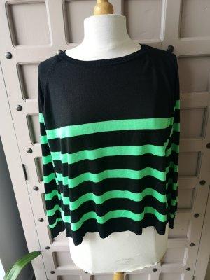 Zara Oversized Sweater black-neon green