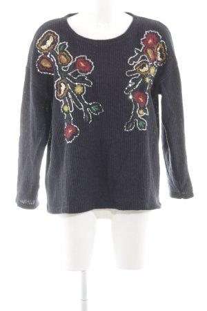 Zara Oversized Pullover Blumenmuster Casual-Look