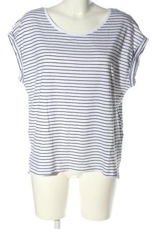 Zara Oversized Shirt weiß-schwarz Streifenmuster Casual-Look
