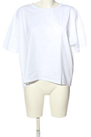 Zara Oversized Shirt weiß Casual-Look