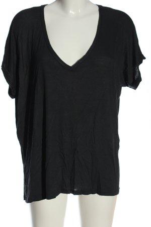 Zara Oversized Shirt blau-hellgrau meliert Elegant
