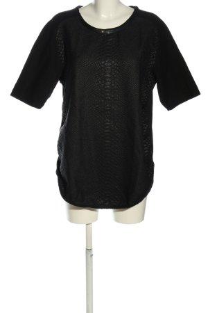 Zara Oversized Shirt schwarz Allover-Druck Casual-Look