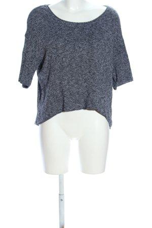 Zara Oversized Shirt hellgrau meliert Casual-Look