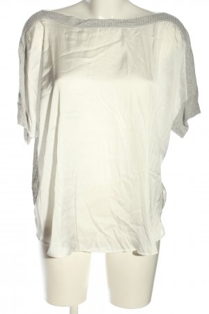Zara Oversized Shirt wollweiß-hellgrau meliert Casual-Look