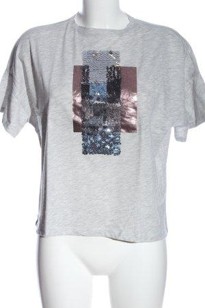 Zara Camisa holgada gris claro moteado look casual
