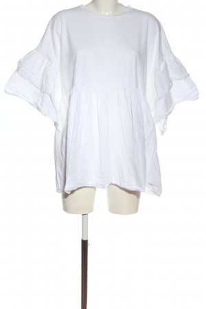 Zara Top extra-large blanc style décontracté