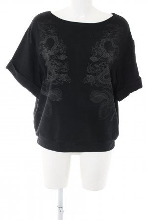 Zara Camicia oversize nero Stampa a tema stile casual