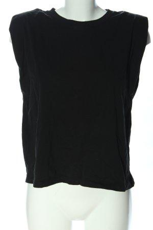 Zara Top extra-large noir style décontracté