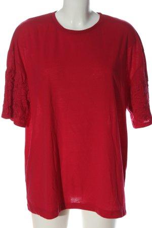 Zara Oversized Shirt red casual look