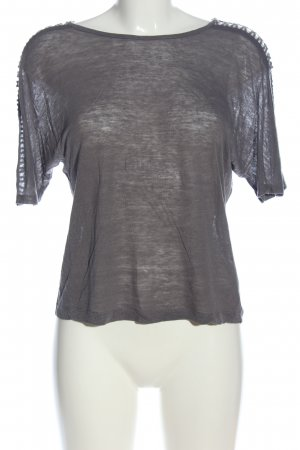 Zara Oversized Shirt blau meliert Casual-Look