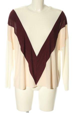 Zara Oversized Shirt creme-braun Casual-Look