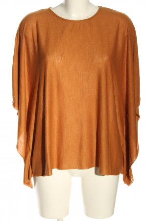 Zara Oversized Shirt hellorange meliert Casual-Look