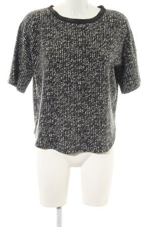 Zara Oversized Shirt schwarz-weiß meliert Casual-Look