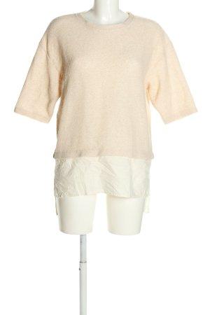 Zara Oversized Shirt wollweiß-weiß Casual-Look