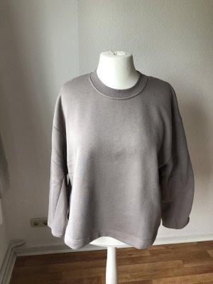 Zara oversized Sweatshirt Hellgrau