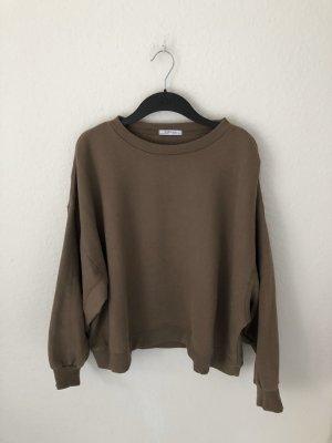 Zara oversized Sweatshirt Taupe Braun