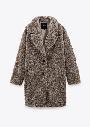 Zara - Oversized Teddy-Mantel (ungetragen)