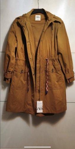 Zara Oversized Trenchcoat M 38 senfgelb Parka
