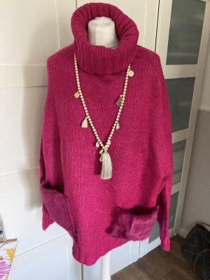 Zara oversized winterlicher pullover in pink m 38-44 tragbar