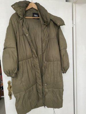 Zara Oversized jas groen-grijs