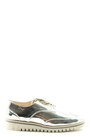 Zara Oxfords zilver casual uitstraling