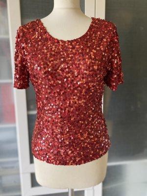 Zara Pailetten T Shirt Gr S top