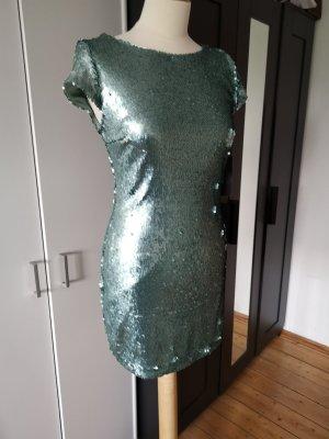 Zara Sequin Dress sage green