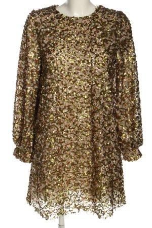 Zara Pailettenkleid mehrfarbig Elegant