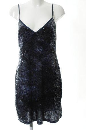 Zara Pailettenkleid blau-schwarz Farbverlauf Glitzer-Optik
