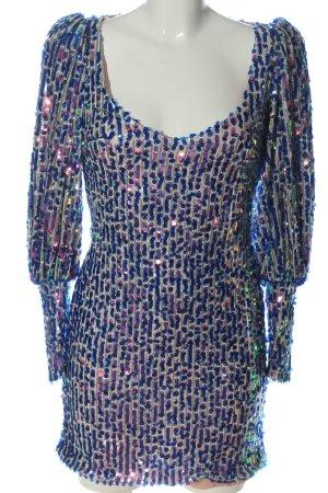 Zara Sequin Dress blue extravagant style
