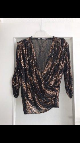 Zara Blouse portefeuille bronze-noir