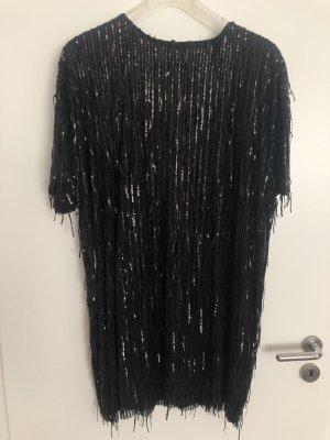 Zara Cekinowa sukienka czarny