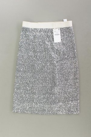 Zara Stretch Skirt silver-colored polyester