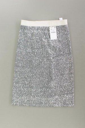 Zara Paillettenrock neu mit Etikett silber Größe M