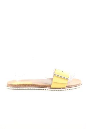Zara Pantoffeln blassgelb Casual-Look