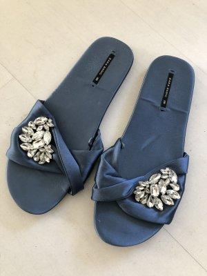 Zara Basic Sabot bleu azur
