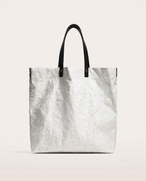 ZARA Paper Shopping Bag Tragetasche Tasche weiß