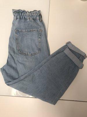 Zara Workowate jeansy niebieski