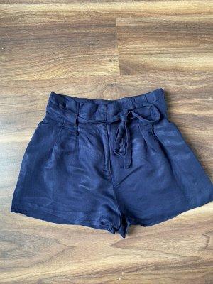 Zara Pantalone a vita alta blu Cotone