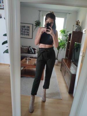Zara Trafaluc Pantalon de costume vert foncé